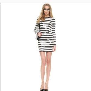 Michael kors sequin stripe dress